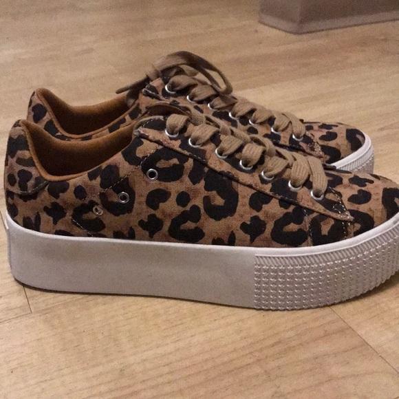 Steve Madden Cheetah Platform Sneaker